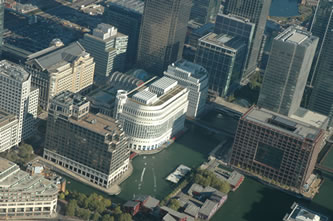 Helicopter Tour over Canary Wharf Centre