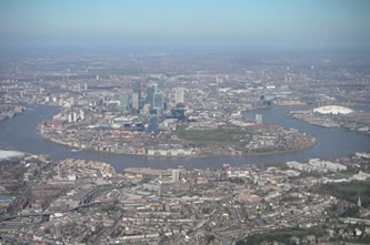 Helicopter Tour over Isle of Dogs