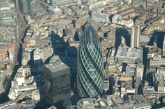 Helicopter Tour over The Gherkin Building
